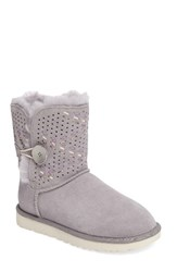 Uggr Women's Ugg Bailey Genuine Shearling Button Tehuano Boot Pencil Lead Suede