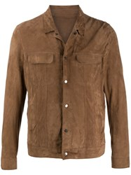 Salvatore Santoro Single Breasted Fitted Jacket Brown