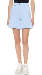 Acne Studios Othella Linen Shorts Sky Blue