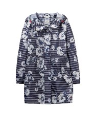 Joules Long Sleeves Hooded Waterproof Parka French Navy