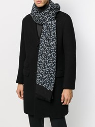 Altea Houndstooth Patterned Frayed Edge Scarf 60