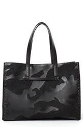 Valentino 'Medium Rockstud' Lambskin Leather Camo Tote