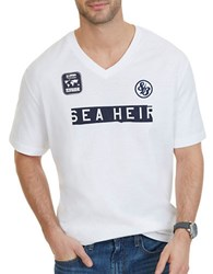 Nautica Big And Tall Sea Heir Graphic Printed Tee Bright White