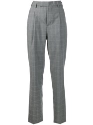Zadig And Voltaire Check Trousers Grey