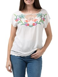 Sugarhill Boutique Tropical Flamingo Top Multi