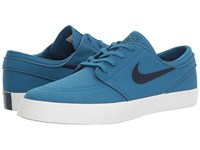 Nike Zoom Stefan Janoski Canvas Industrial Blue Obsidian Men's Skate Shoes
