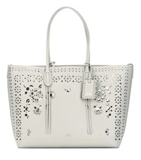 Polo Ralph Lauren Perforated Leather Shopper White