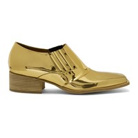 Y Project Gold Low Cut Chelsea Boots