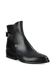 Robert Clergerie Solid Leather Buckle Booties Black