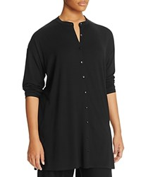 Eileen Fisher Plus Mandarin Collar Tunic Black