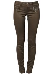 Only Olivia Slim Fit Jeans Chocolate Chip Dark Brown