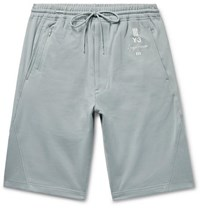 Y 3 Slim Fit Loopback Cotton Jersey Shorts Sky Blue