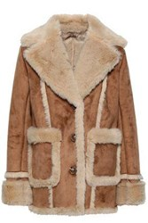 Mother Faux Shearling Coat Light Brown