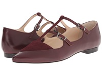 Marc Fisher Ltd Shane Bordo Cannon Calf Burgundy Women's Dress Flat Shoes Brown