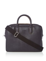 Paul Smith Leather Structured Folio Bag Navy