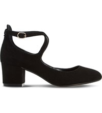 Dune Ani Court Shoe Black Suede