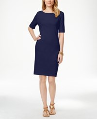 Karen Scott T Shirt Dress Only At Macy's Intrepid Blue