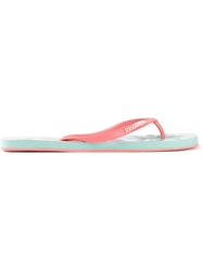 Dsquared2 Palm Tree Flip Flops Pink And Purple