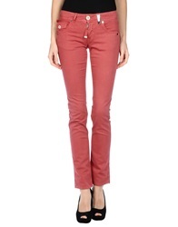 High Casual Pants Brick Red