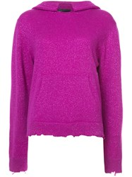 Rta Cashmere Hoodie Pink And Purple