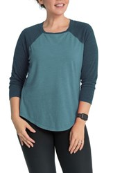 Bun Maternity Relax Raglan Sleeve Nursing Top Dream Blue