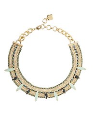 Bcbgmaxazria Stone Chain Necklace Malachite