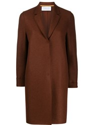Harris Wharf London Single Breasted Coat Brown