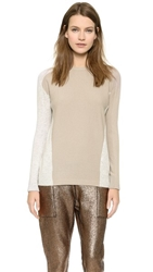 M.Patmos Two Tone Cashmere Sweater Nude Cloud