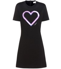 Carven Embroidered Cotton Sweatshirt Dress Black