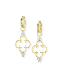 Jude Frances 18K Clover Diamond Earring Charms Gold