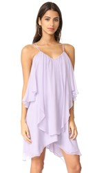 Haute Hippie Ruffle Tank Dress Pale Violet
