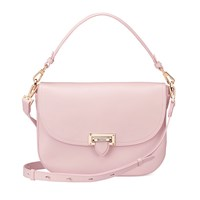 Aspinal Of London Letterbox Slouchy Saddle Bag Blush