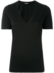 Dsquared2 Basic V Neck T Shirt Black