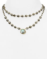 Ela Rae Leandra Double Layer Necklace 14 Green