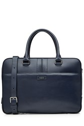 Tod's Tods Leather Briefcase Blue