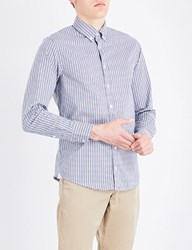 Boss Orange Checked Slim Fit Stretch Cotton Shirt Light Pastel Pink