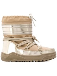 Tommy Hilfiger Pvc Trim Snow Boots Nude And Neutrals