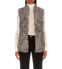Ted Baker Nikky Shearling Gilet Mid Grey
