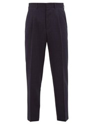 The Gigi Tonga Tapered Virgin Wool Trousers Navy