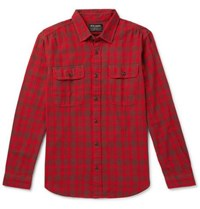 Filson Scout Checked Cotton Flannel Shirt Red