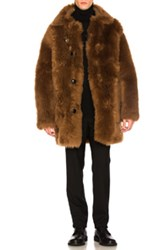 Coach 1941 Reversible Sheep Shearling Coat In Brown