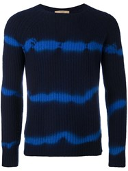 Nuur Tie Dye Striped Jumper Blue