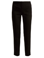 Givenchy Straight Leg Crepe Trousers Black
