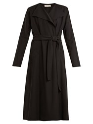 Nina Ricci Waist Tie Twill Trench Coat Black