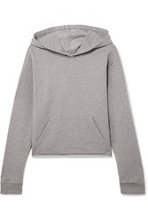 Rta Cicely Zip Detailed Cotton Terry Hoodie Light Gray