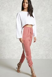 Forever 21 Satin Contrast Wide Leg Pants