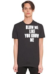 House Of Holland Blow Me Printed Cotton Jersey T Shirt