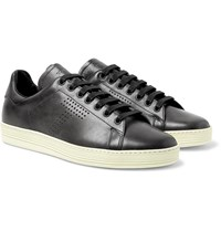 Tom Ford Warwick Perforated Leather Sneakers Gray
