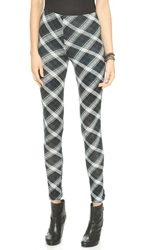 Plush Plaid Leggings Navy Plaid