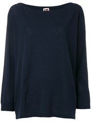 I'm Isola Marras Oversize Knitted Top Blue